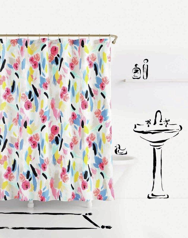 Kate Spade New York Paintball Floral Shower Curtain Wayfair