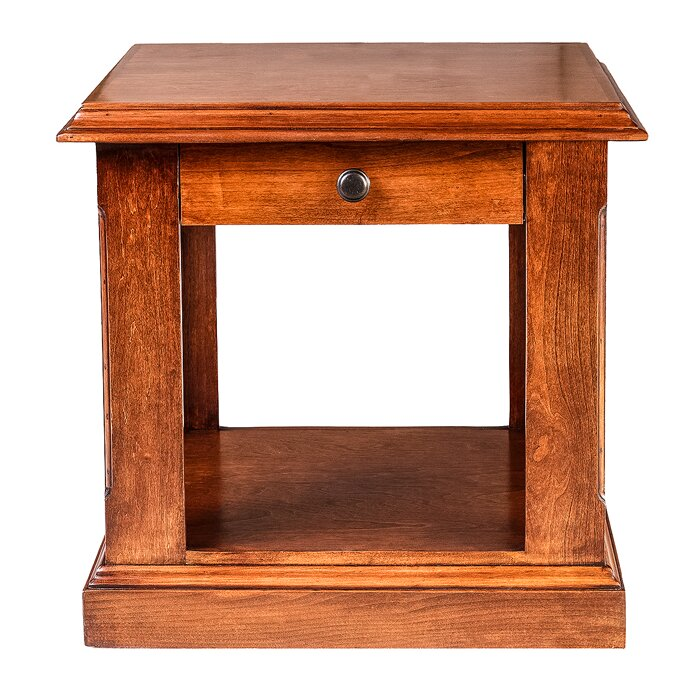 Meade 26 H End Table With Black Knobs