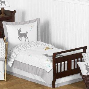 Forest Deer 5 Piece Toddler Bedding Set