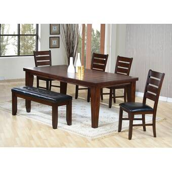 501720d2e9 Alcott Hill Wynwood 5 Piece Counter Height Solid Wood Dining Set ...