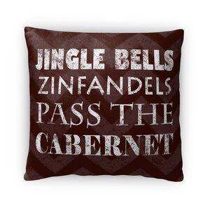 Jingle Bells Fleece Throw Pillow