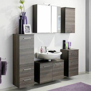 Held Möbel Wandmontierter Waschtisch Makadi mit Spiegel