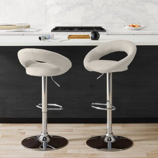 Menard Adjustable Height Bar Stool (Set of 2)
