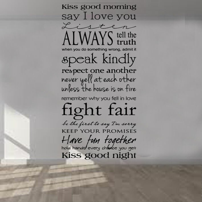 Kult kanvas kiss me goodmorning quote decal wall sticker for Dayroom yellow bedroom