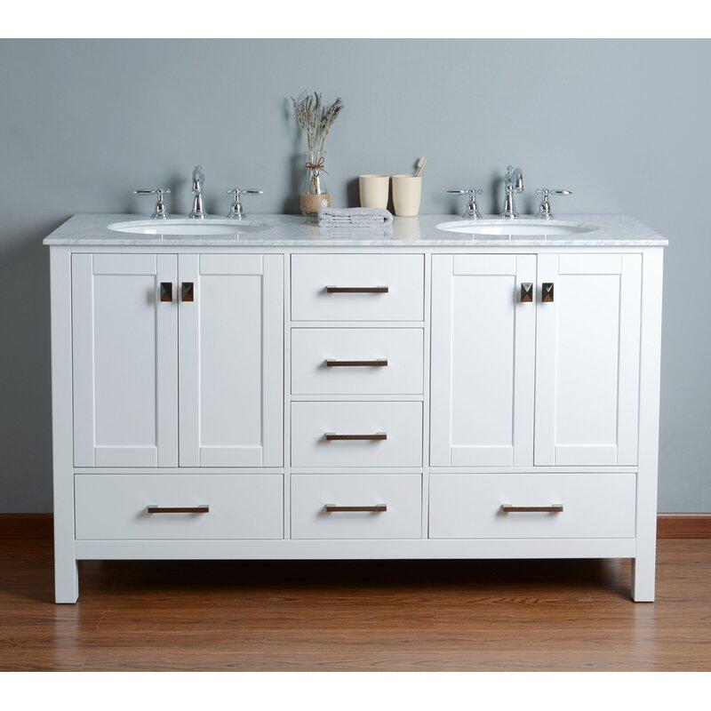 Brayden Studio Ankney 60 Double Bathroom Vanity Set Reviews Wayfair