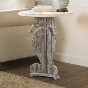 Rushmore Seahorse End Table by Beachcrest Home