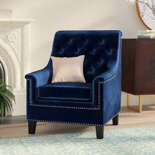 Superbe Navy Blue Velvet Chairs | Wayfair.ca
