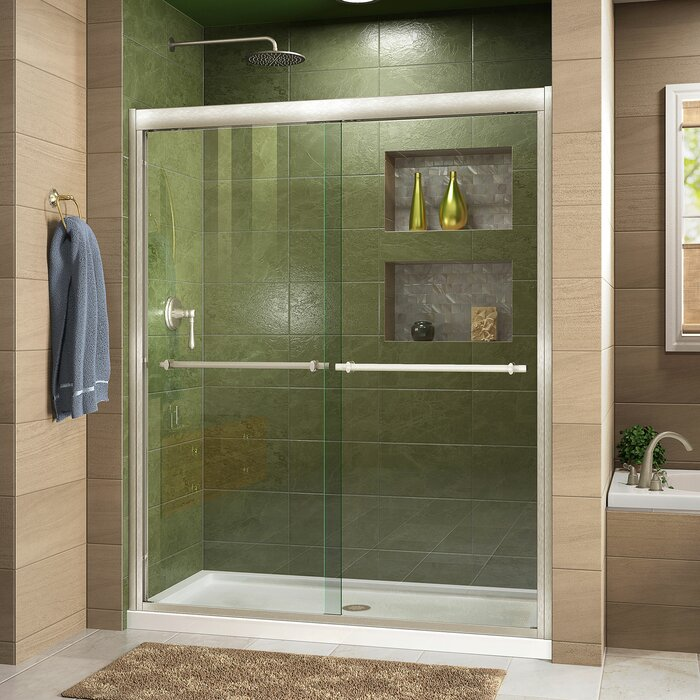 shower ideas door frameless semi