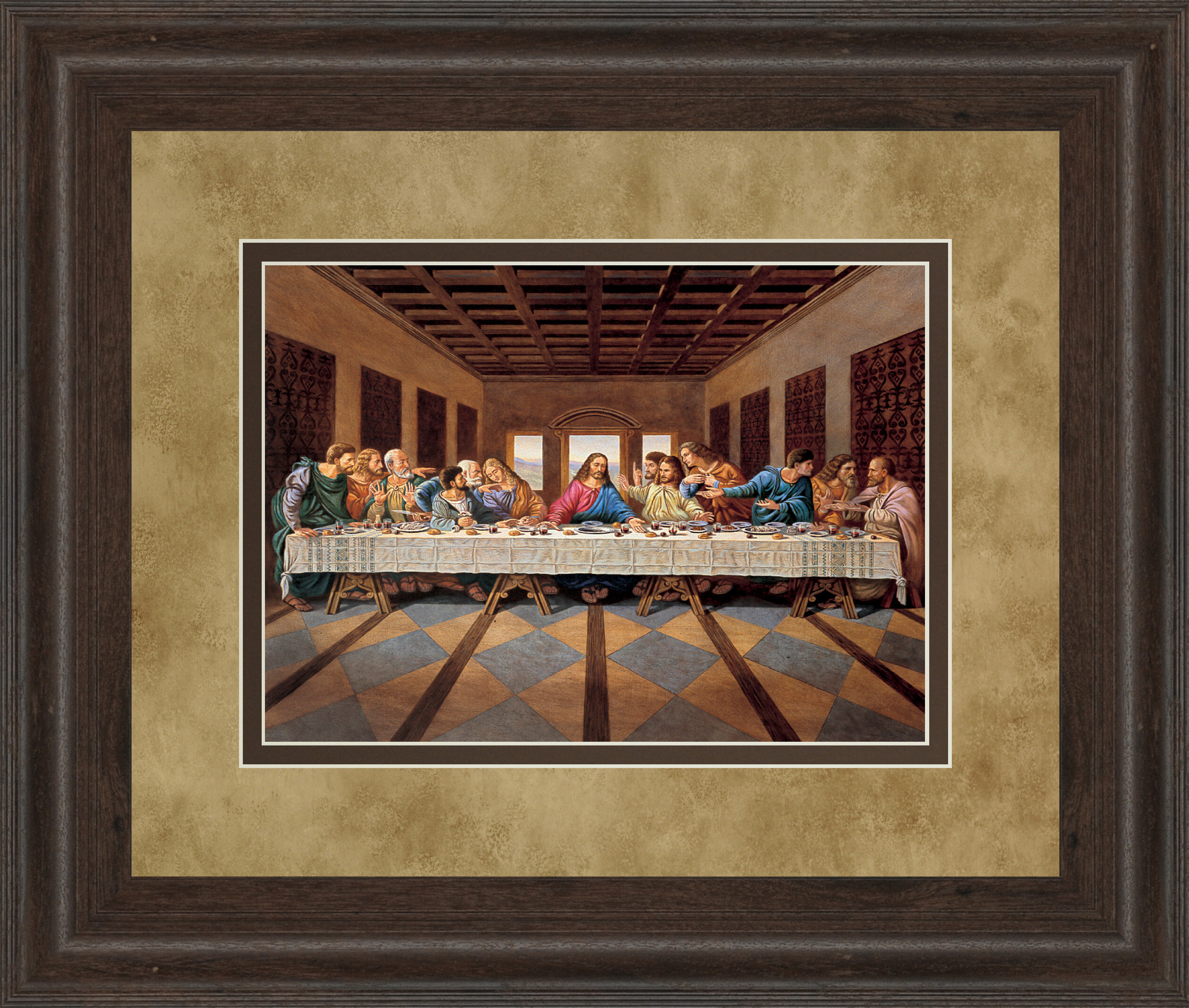 ClassyArtWholesalers Last Supper Framed Painting Print | Wayfair