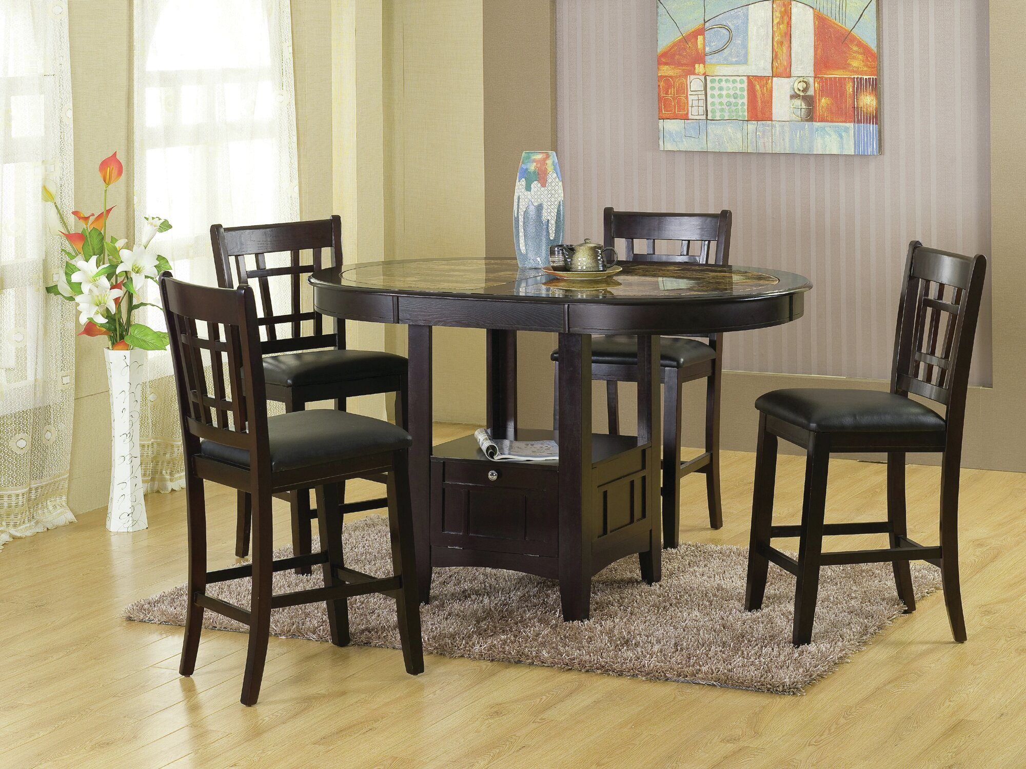 Hazelwood Home Charleston 5 Piece Dining Set | Wayfair