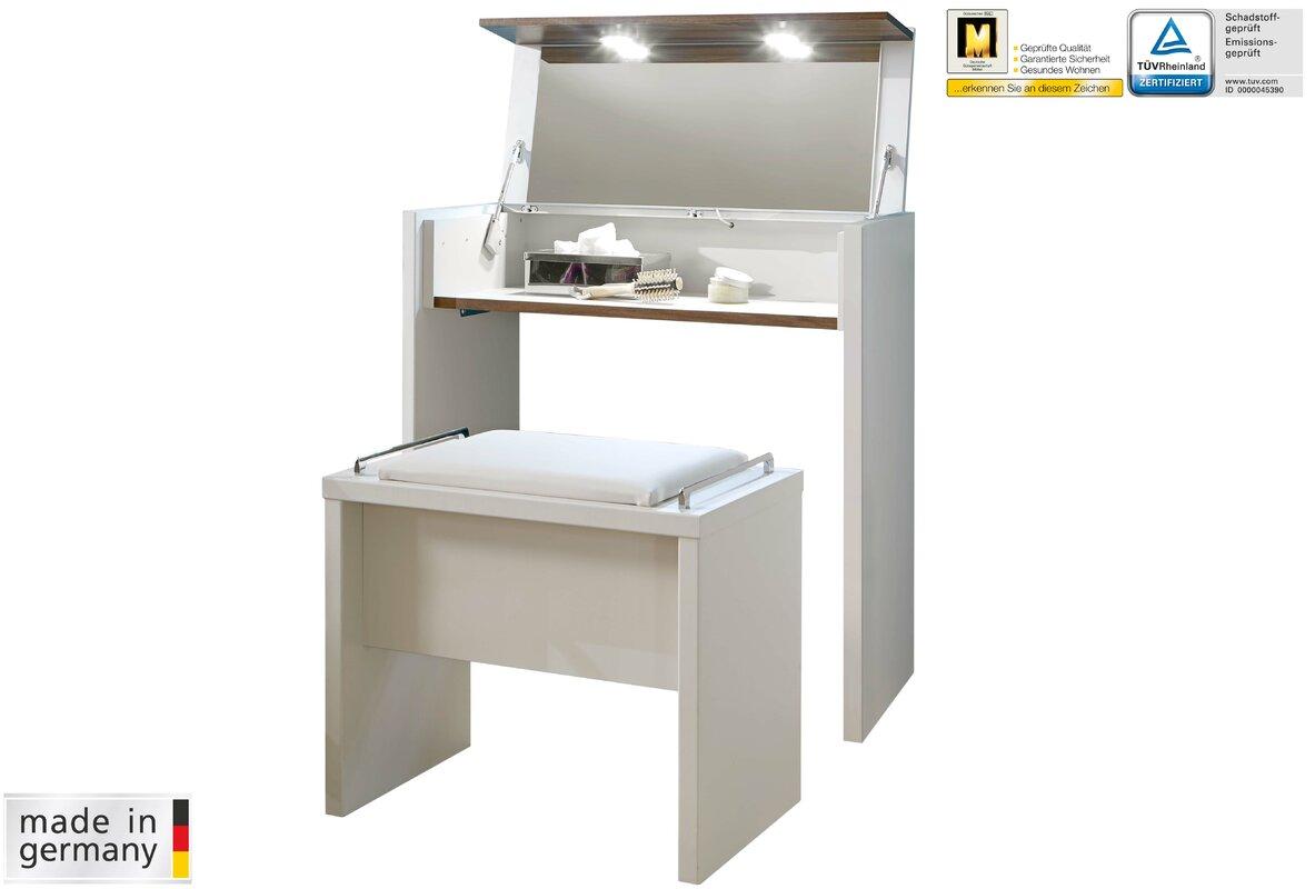 wiemann schminktisch set catania mit spiegel bewertungen. Black Bedroom Furniture Sets. Home Design Ideas