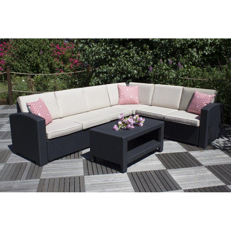 Champlon Garden Corner Sofa With Cushions