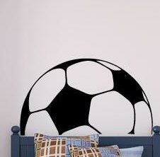 Greenside Soccer Ball Headboard Vinyl Wall Decal