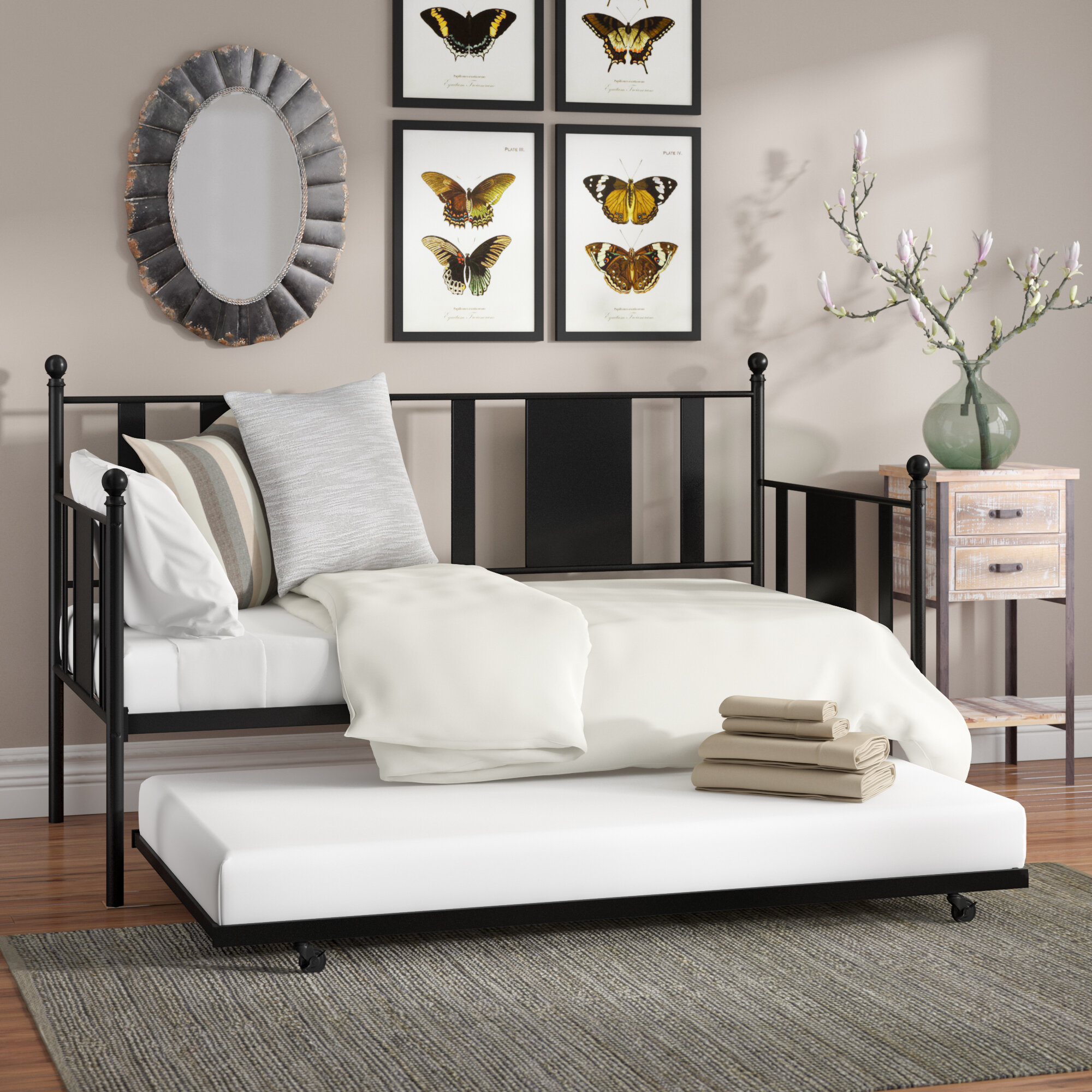 Laurel Foundry Modern Farmhouse Glade Park-Gateway Twin Daybed with ...