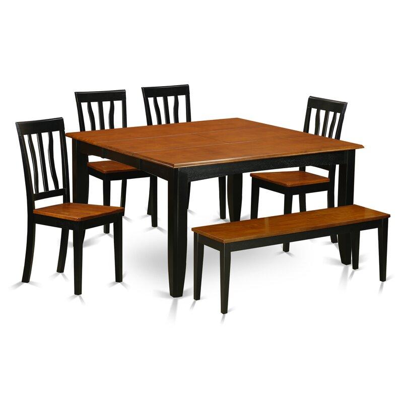 Wooden Importers Lynfield 6 Piece Dining Set: Wooden Importers Parfait 6 Piece Dining Set