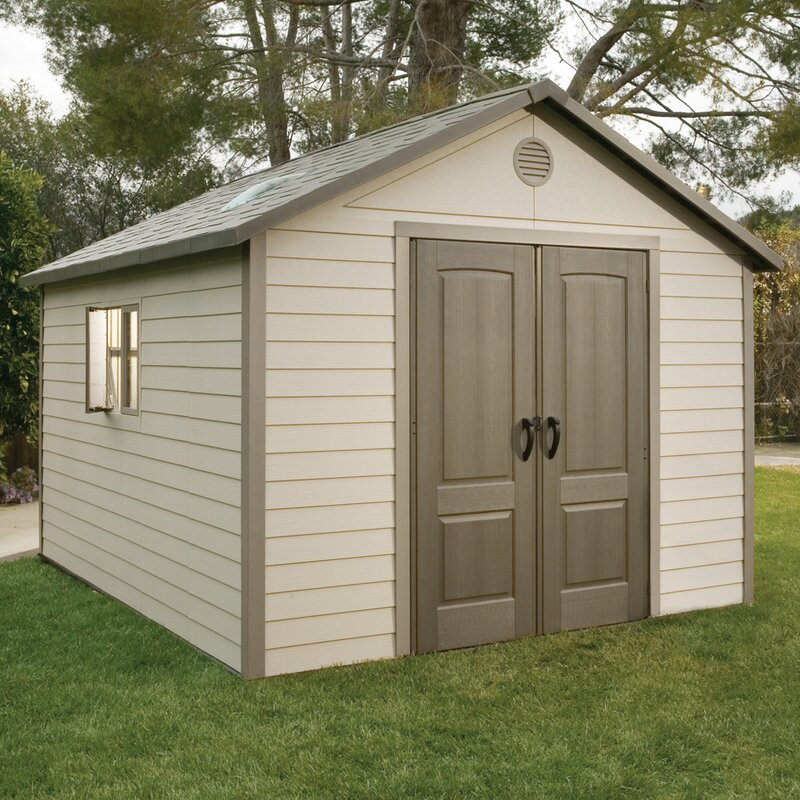 """12 X 18 Living Room Ideas: Lifetime 10 Ft. 4 In W X 12 Ft. 10"""" D Plastic Storage Shed"""
