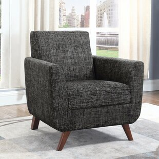 Winsomely Compact Accent Chair, Dark Grey