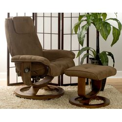 Reclining Massage Chair charlton home reclining heated massage chair with ottoman