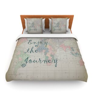 World map bedding sets coverlets quilts wayfair journey world map by catherine holcombe featherweight duvet cover gumiabroncs Image collections
