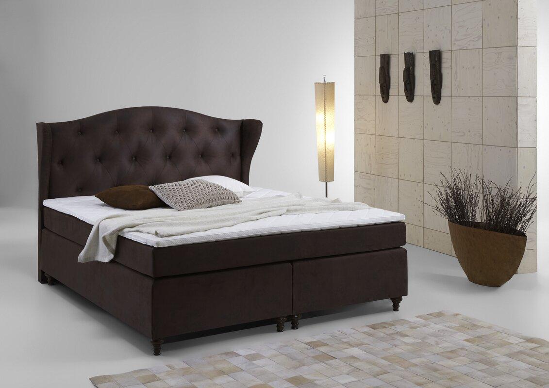 atlantic home collection boxspringbett rex mit topper bewertungen. Black Bedroom Furniture Sets. Home Design Ideas