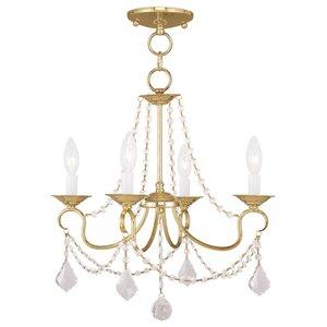 Devana 4-Light Crystal Chandelier