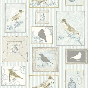 Hagen Birds 10m x 53cm Wallpaper Roll by One Allium Way