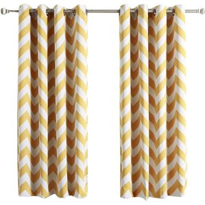 chaplin chevron semisheer thermal grommet curtain panels set of 2