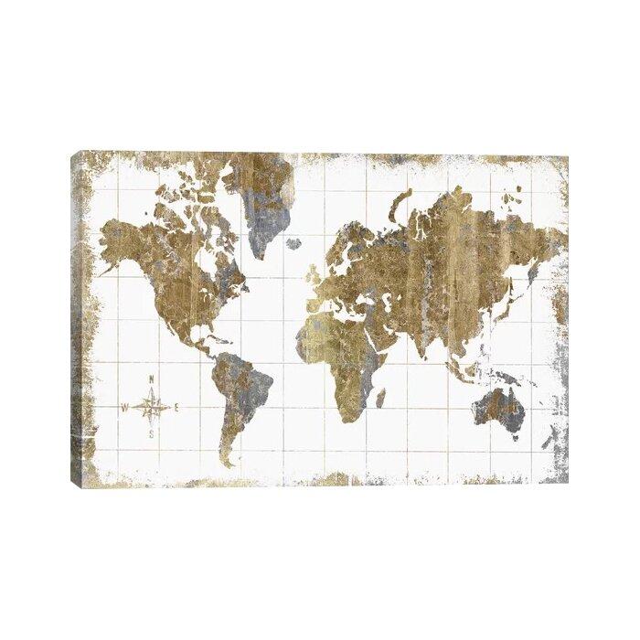 zipcode design gilded map graphic art print reviews wayfair ca