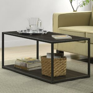 black living room table sets. Claudette Industrial Coffee Table Rectangle Tables You ll Love  Wayfair
