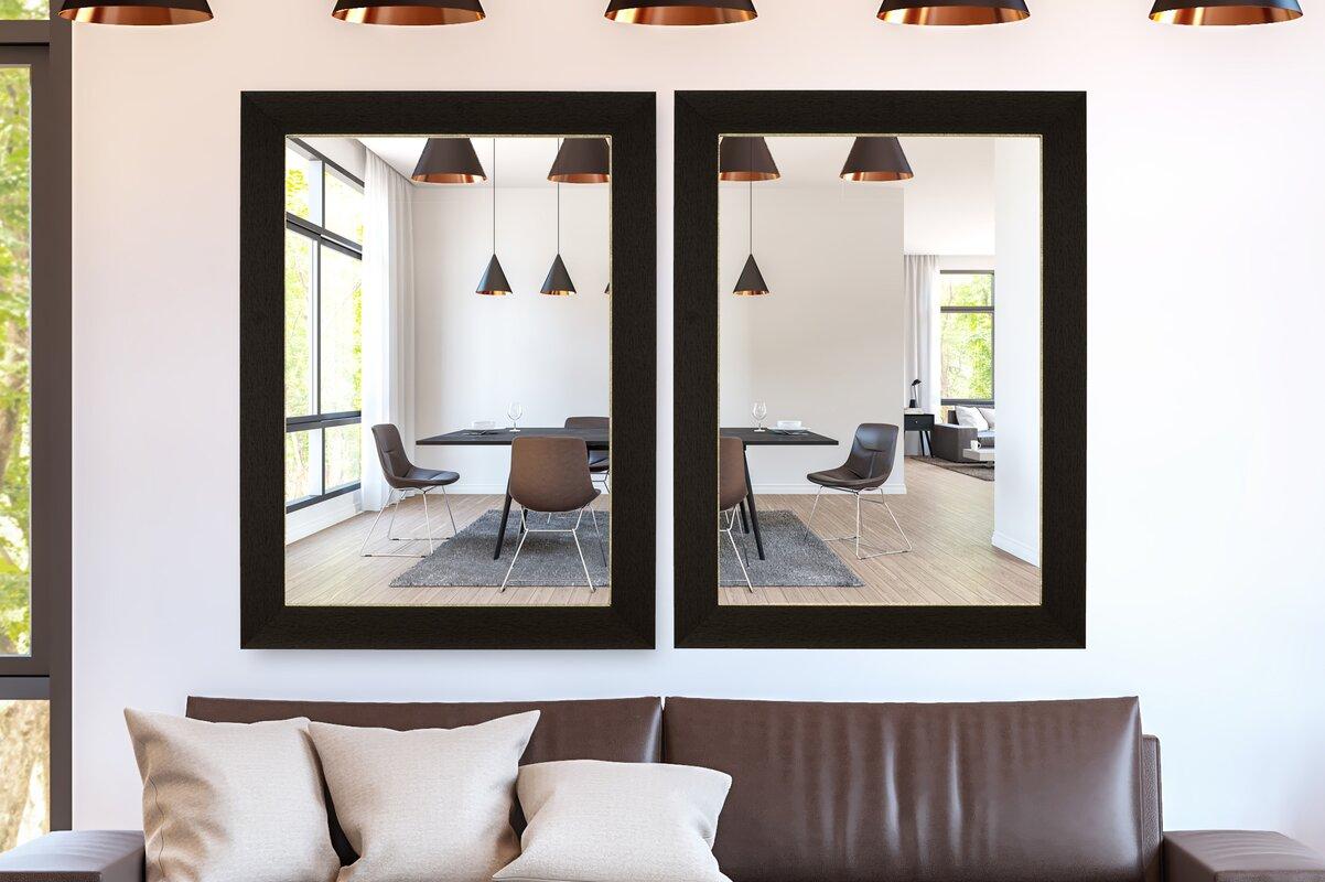 Hitchcock Butterfield Company Rubicon Espresso Silver Wall Mirror