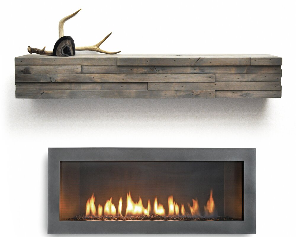 Dogberry Collections Modern Fireplace Mantel Shelf Reviews Wayfair