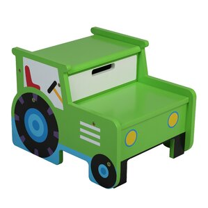 Olive Kids Tractor Step Stool with Storage by Levels of Discovery