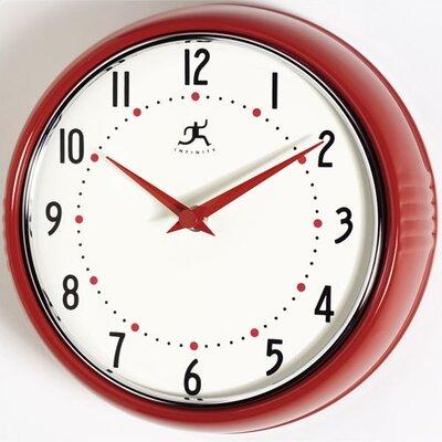Brayden Studio Maysonet 9.5 Wall Clock Finish: Red