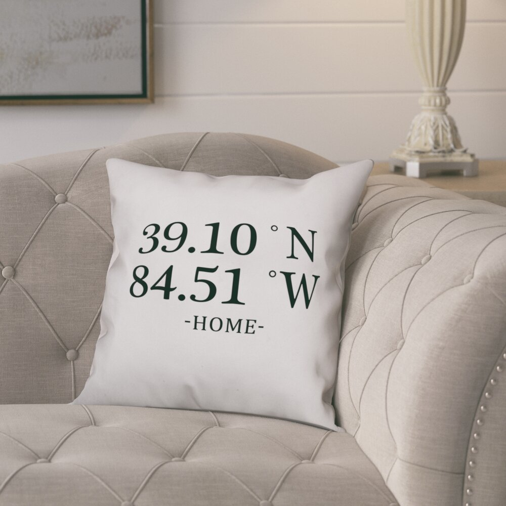 Gracie Oaks Bloomfield Longitude And Latitude Home Coordinates  ~ How To Coordinate Throw Pillows For Sofa And Chairs