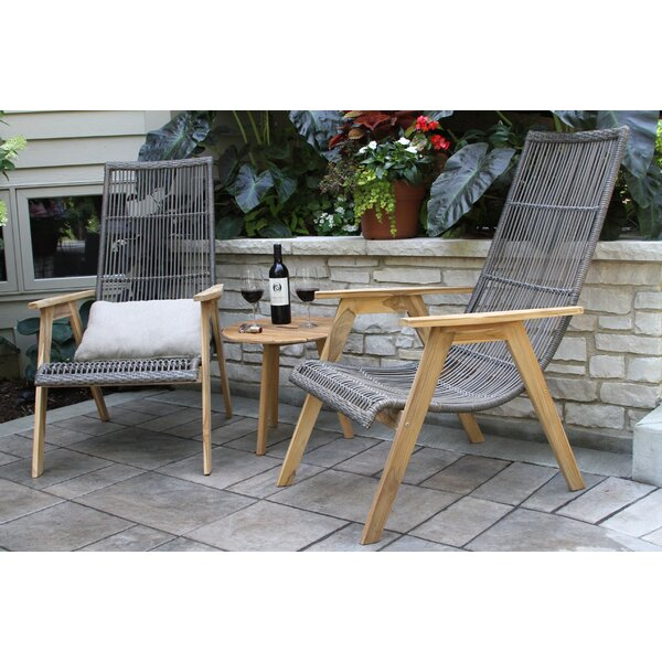 Largent Teak Patio Chair With Cushions Reviews Birch Lane