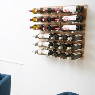 30 Bottle Wall Mounted Wine Rack