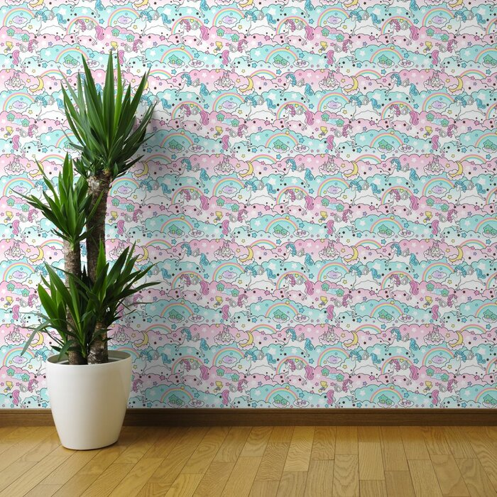 Fullmer Unicorn Nursery Removable Wallpaper Roll