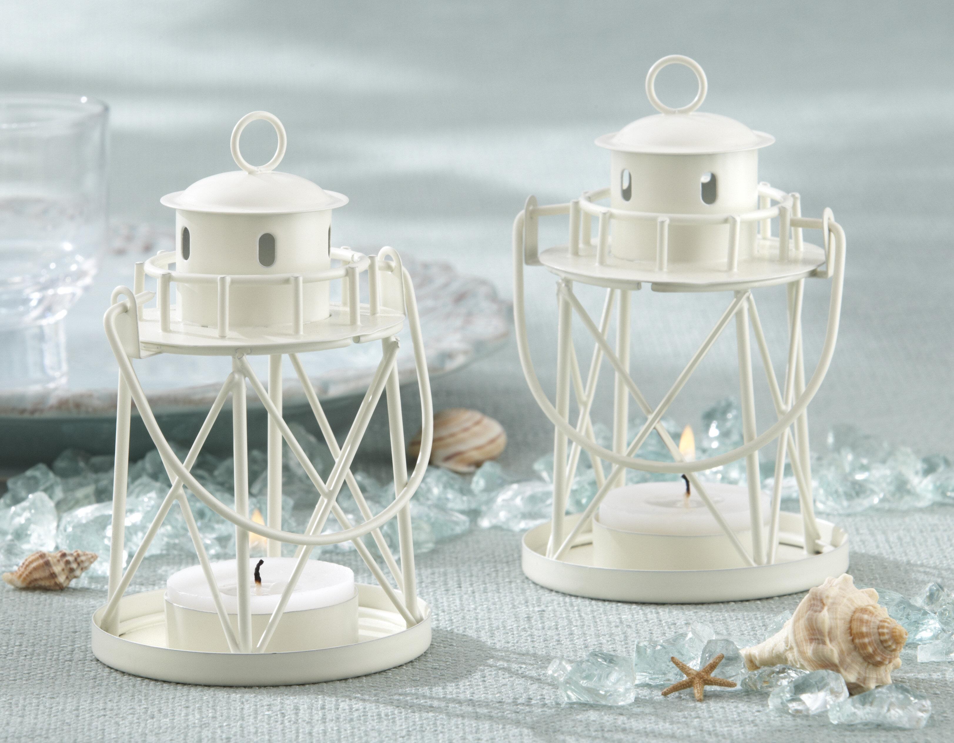 Kate Aspen By the Sea Lighthouse Metal Lantern & Reviews   Wayfair