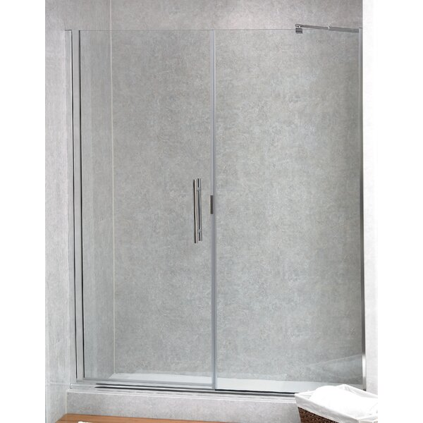 Coastal Industries Paragon Illusion Series 61.25  x 70  Hinged Frameless Shower Door with Inline Panel u0026 Reviews | Wayfair  sc 1 st  Wayfair & Coastal Industries Paragon Illusion Series 61.25