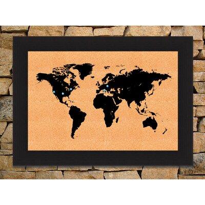 HadleyHouseCo World Map Wall Mounted Bulletin Board | Wayfair