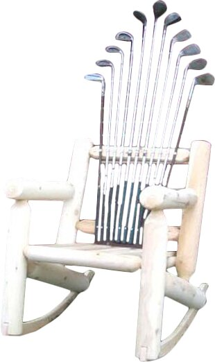 Superieur Golf Club Wood Rocking Adirondack Chair