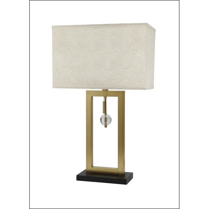 Barbery rectangle crystal rod 31 table lamp