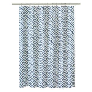 PEVA Greek Key Design Shower Curtain