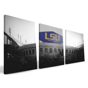 'NCAA' 3 Piece Photographic Print on Wrapped Canvas