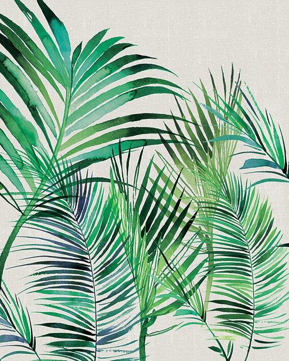 Summer Thornton   Palm Leaves Canvas Wall Art