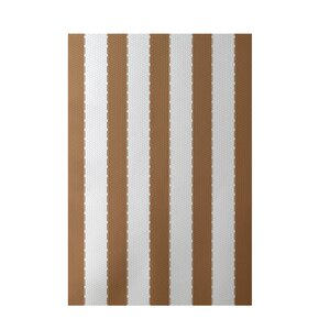 Stripe Brown Indoor/Outdoor Area Rug