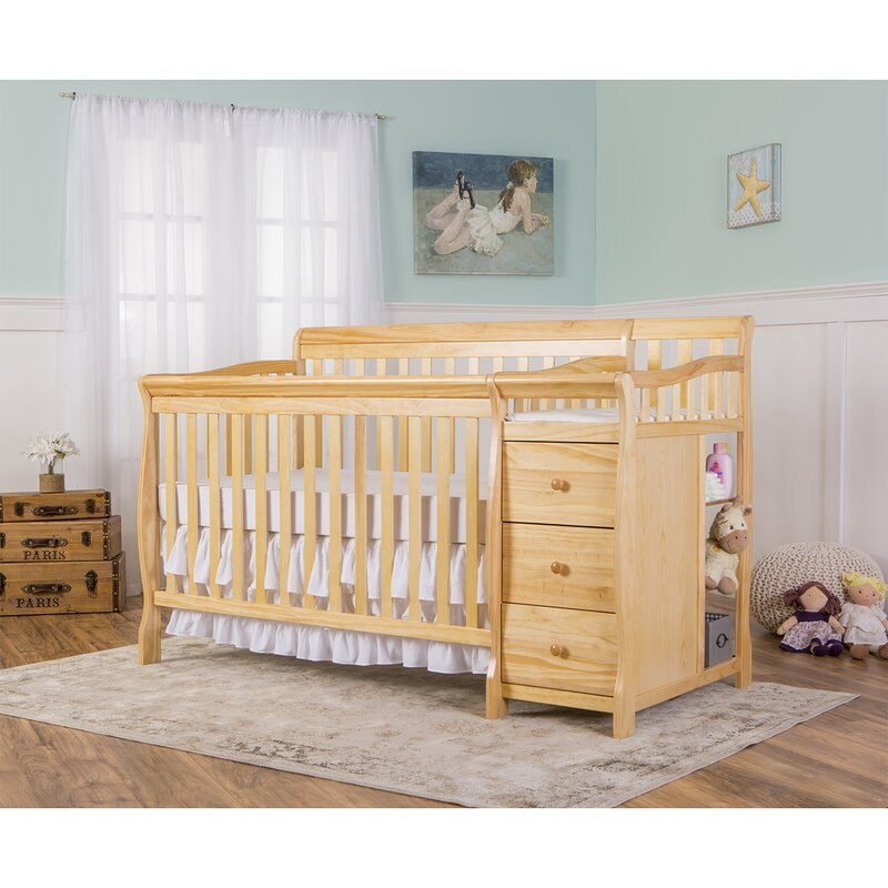 Dream On Me Brody 5 In 1 Convertible Crib And Changer