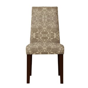 Haddonfield Beige/Brown Parsons Chair (Set of 2) by Latitude Run