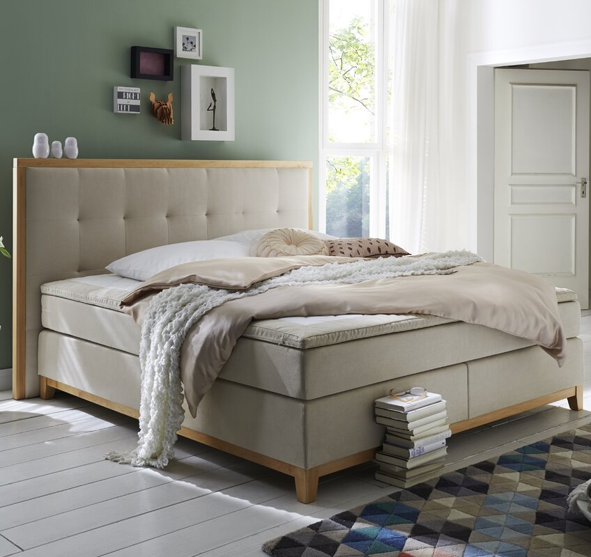 atlantic home collection boxspringbett sonja mit topper. Black Bedroom Furniture Sets. Home Design Ideas