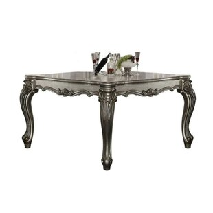 Umana Scrolled Pattern Wooden Dining Table